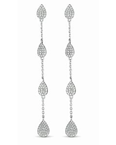 Pear Shaped Diamond Dangles