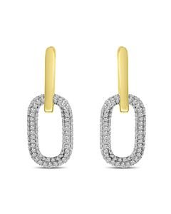 Detachable Diamond Hoop Earrings