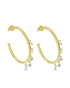 Dashing Diamond Hoop Earrings