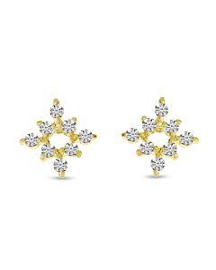 Petite Diamond Snowflake Studs