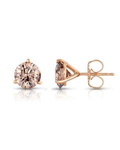 Cognac Diamond Studs
