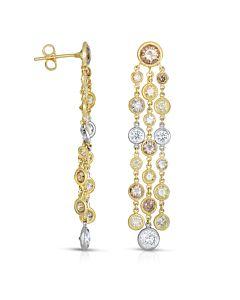 Fancy Color Dangling Earrings