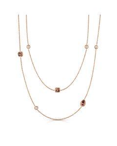 Long Fancy Diamond Necklace