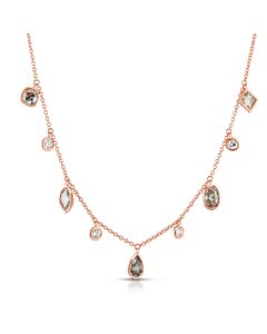 Fancy Shape Diamond Necklace