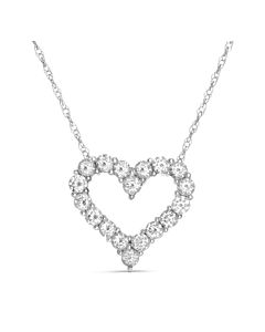 White Gold Diamond Heart