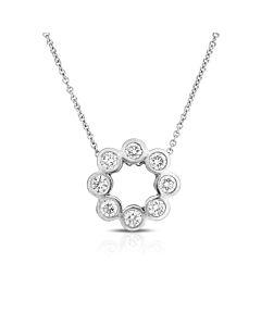 Bezel Diamond Circle Necklace