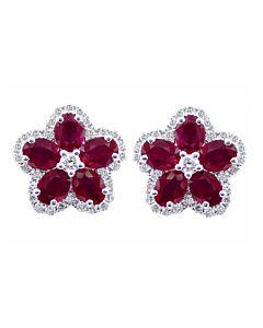 Ruby and Diamond Flowers