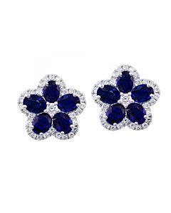 Sapphire and Diamond Flowers
