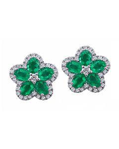 Emerald and Diamond Flowers