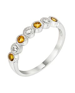 Citrine and Diamond stackable ring