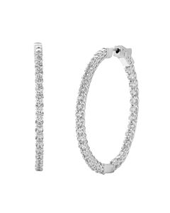 5 ct round diamond hoop earrings