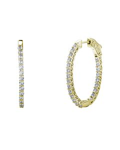 2 ct oval diamond hoop earrings