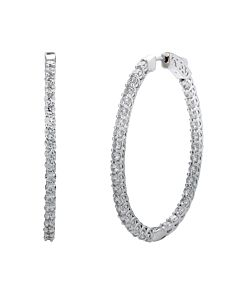 5 ct. oval diamond hoop earrings