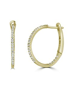 Small Round In/Out diamond hoops