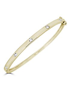 Burnished diamond bangle bracelet