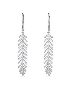 Featherly Diamond Dangles