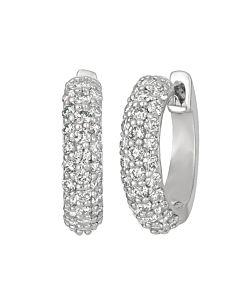 Half carat hinged hoop earrings