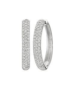 One carat hinged hoop earrings