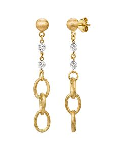 Diamond and Gold Link Earrings