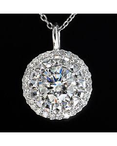 Flower of Light Diamond Pendant