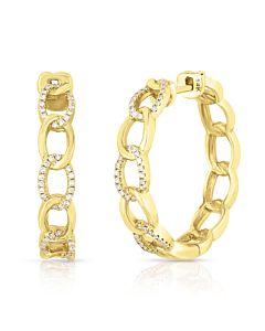 Diamond Chain Hoops