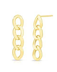 Curb Link Earrings