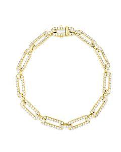 Long Link Diamond Bracelet