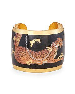 Erté Leopard Cuff Bracelet