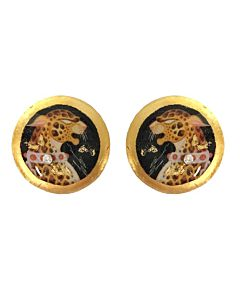 Erte Leopard Earrings