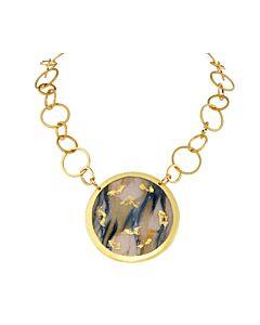 Reversible Marble Enamel Necklace