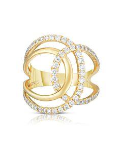 Interlocking Diamond Swirl Ring