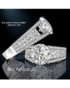 Blaze and Round Diamond Ring Mounting