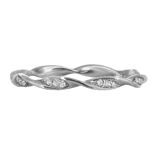 Diamond Twist Ring, size 6.5