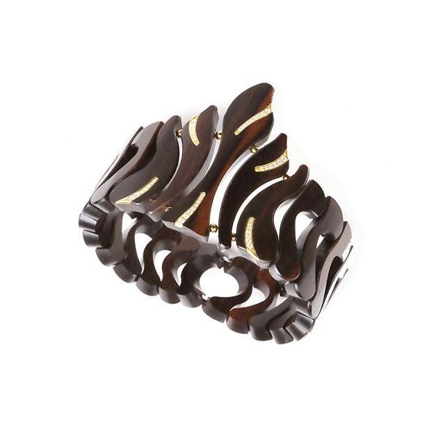 Makassar Ebony & Diamond Bracelet