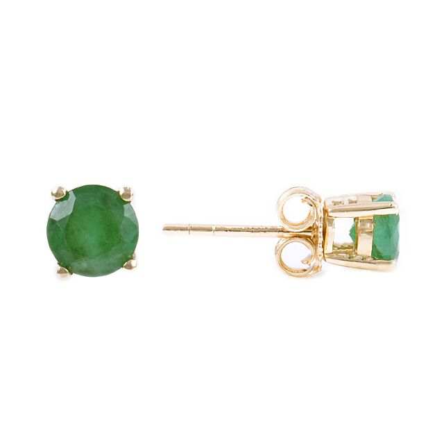 Birthstone studs: Emerald for May
