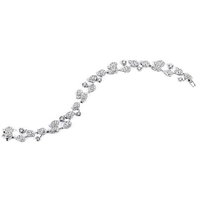 18k Gold Leaf Motif Diamond Bracelet