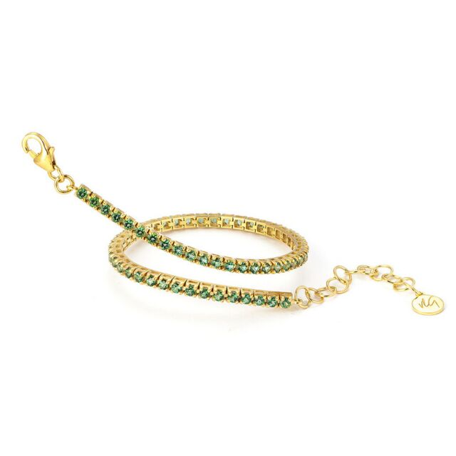 Portofino Collection Green Topaz Eternity Bracelet