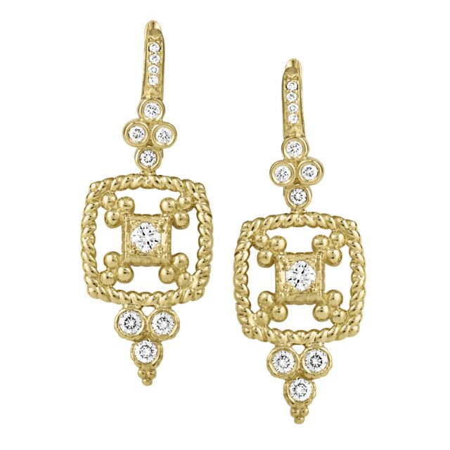 Dangling Cascata Diamond Earrings