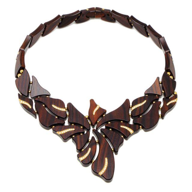 Ebony and Diamond Necklace