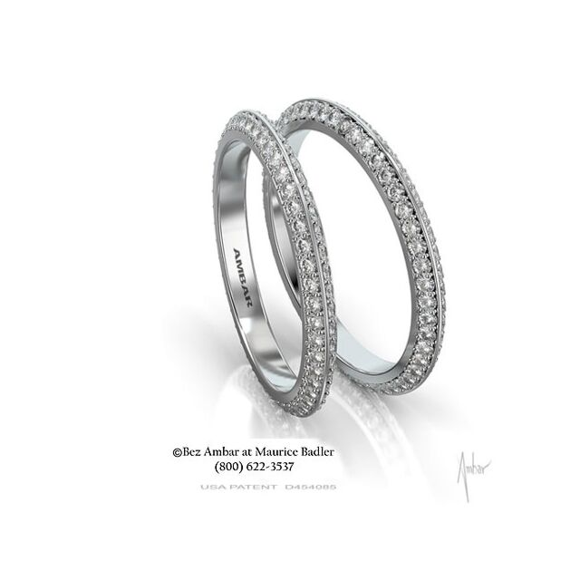 Knife Edged Diamond Eternity Ring