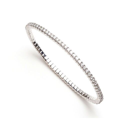 Maurice Badler New York City Fine Jewelry For Roberto Coin Bez Ambar Pandora And More Flexible White Gold Diamond Bangle Bracelet