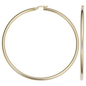 f73d785c6f0 14k Gold 3 Inch Hoop Earrings