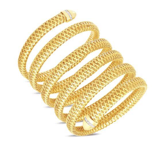 Maurice Badler New York City Fine Jewelry For Roberto Coin Bez Ambar Pandora And More Primavera 6 Row Flexible Diamond Snake Bracelet