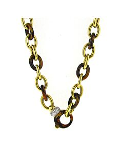 Soho Cappuccino Enamel Link Necklace
