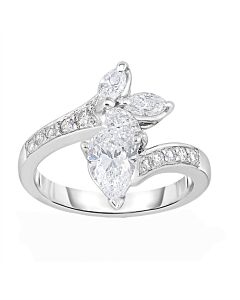 Platinum Diana's Bow Ring