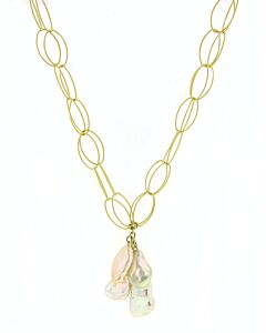 eli jewel link necklace with baroque south sea pearls