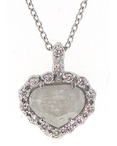 Barry Kronen's White Gold Diamond Heart Pendant