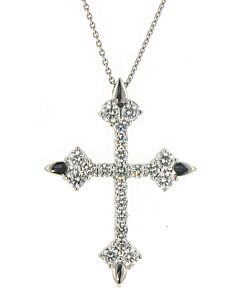 Eli Jewels Aegean Inspired Diamond Cross