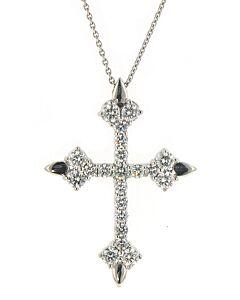 Eli Jewels Aegean Inspired Diamond Cross