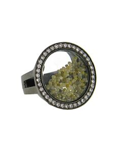 Floating Rough Diamond Ring from Di Massima